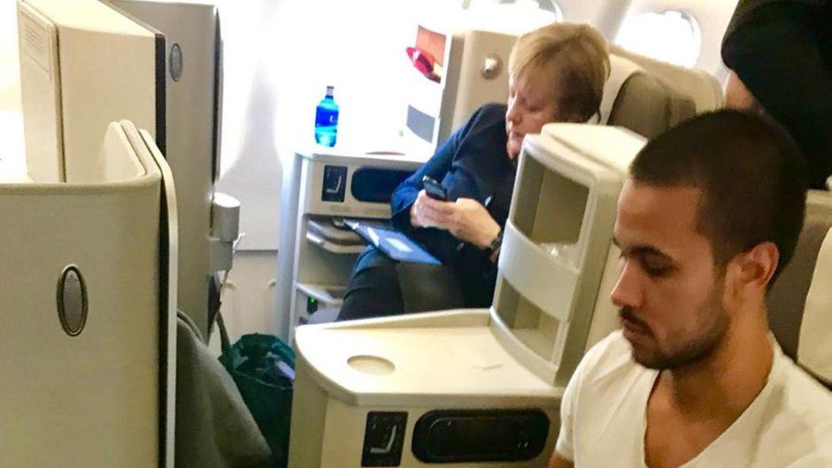 Merkel Linienflug