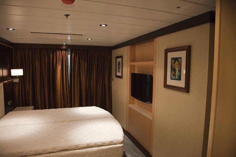 Kabine eines Kreuzfahrtschiffes. (Symbolfoto)