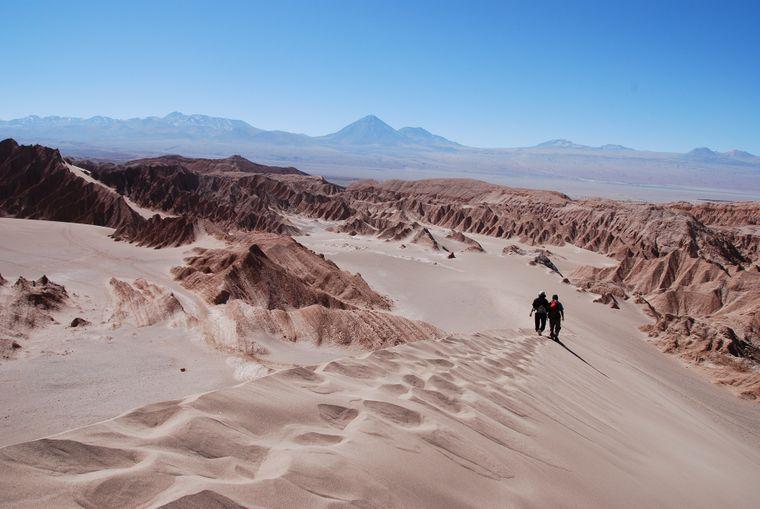Die Atacama-Wüste im Norden von Chile gilt als trockenste Wüste der Welt.