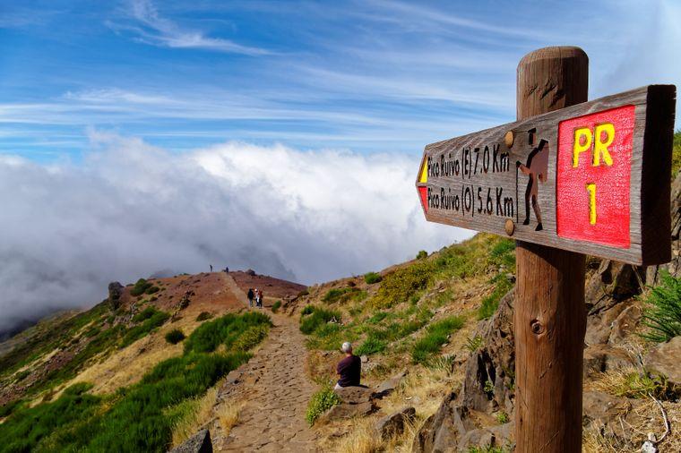 Wanderweg auf Madeira.