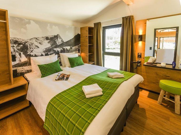Doppelbett im Center Parcs Park Allgäu