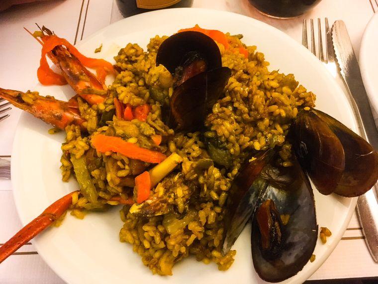 Paella in Can Pastilla, wo vorwiegend Spanier unterwegs sind.