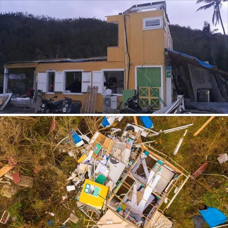 """Vor """"Iota"""" war das Yellow Home eine kleine Dschungel-Oase mit Mini-Pool und herzlichen Gastgebern, Nach """"Iota"""" ist ein Lebenswerk zerstört."""
