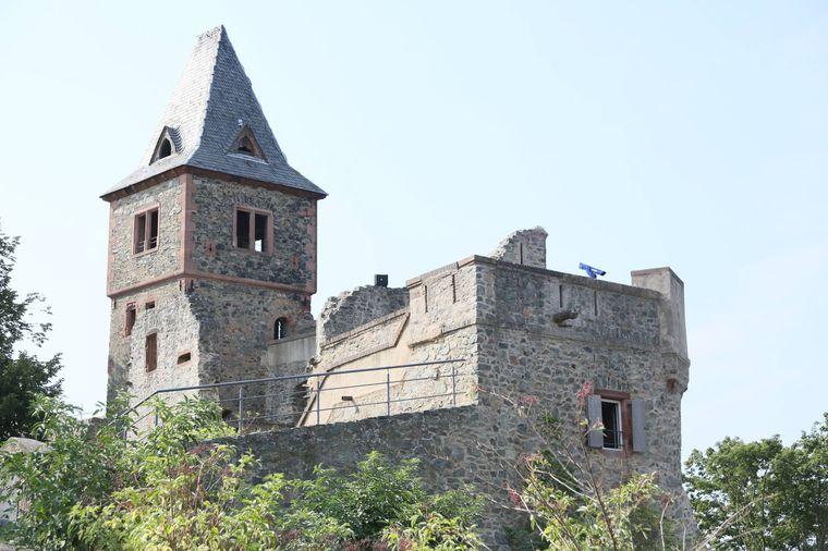 Burg Frankenstein im Odenwald bei Darmstadt.
