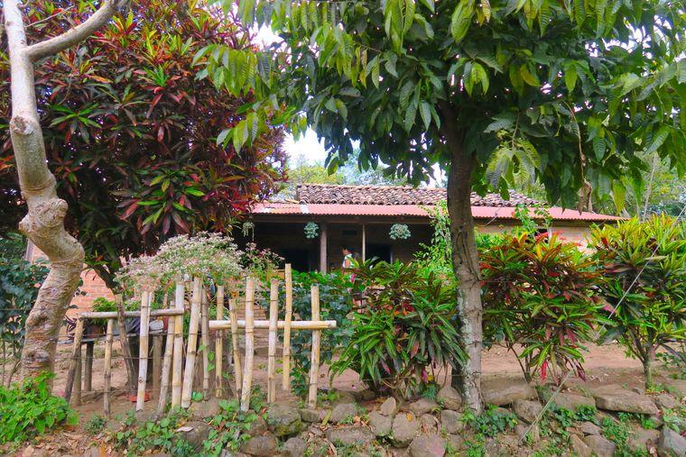 Das Haus einer indigenen Familie in  El Chile.