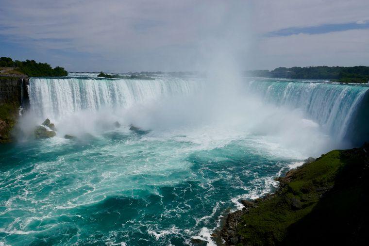 Die Niagarafälle im Panorama.