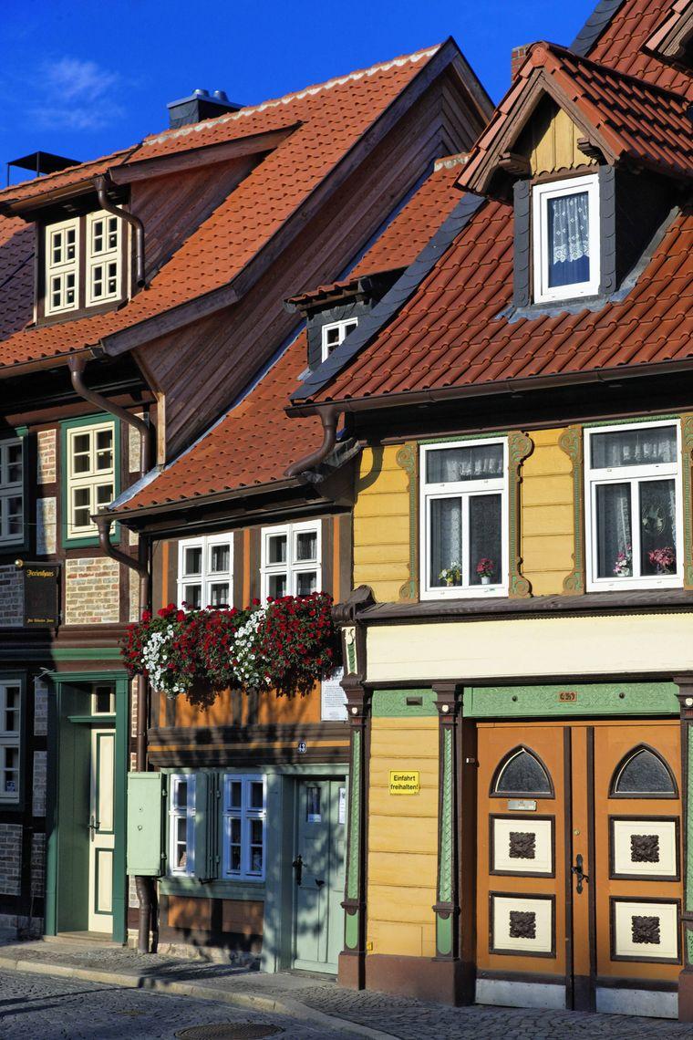 Das Kleinste Haus von Wernigerode ist nur 2,95 Meter breit.