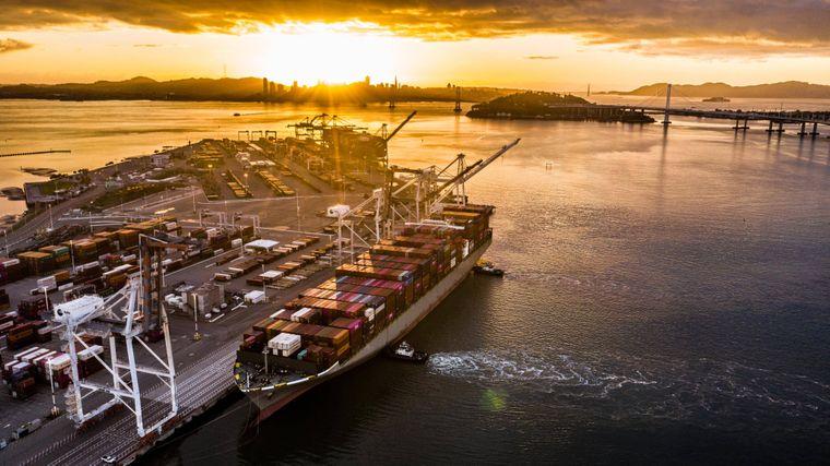 Hafen von Oakland.
