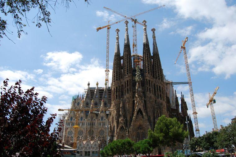 Die Sagrada Família in Barcelona.