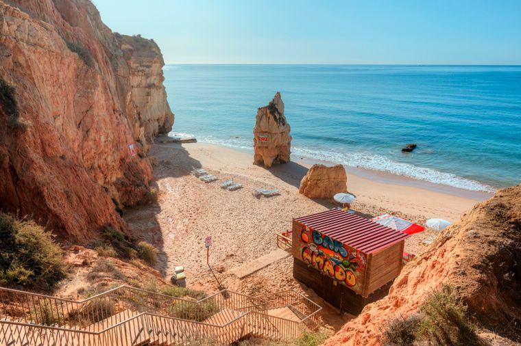 Praia do Amado an der Algarve.
