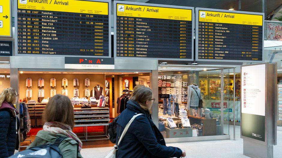 Am Montag drohen an den Flughäfen in Berlin wieder Flugausfälle. (Symbolfoto)