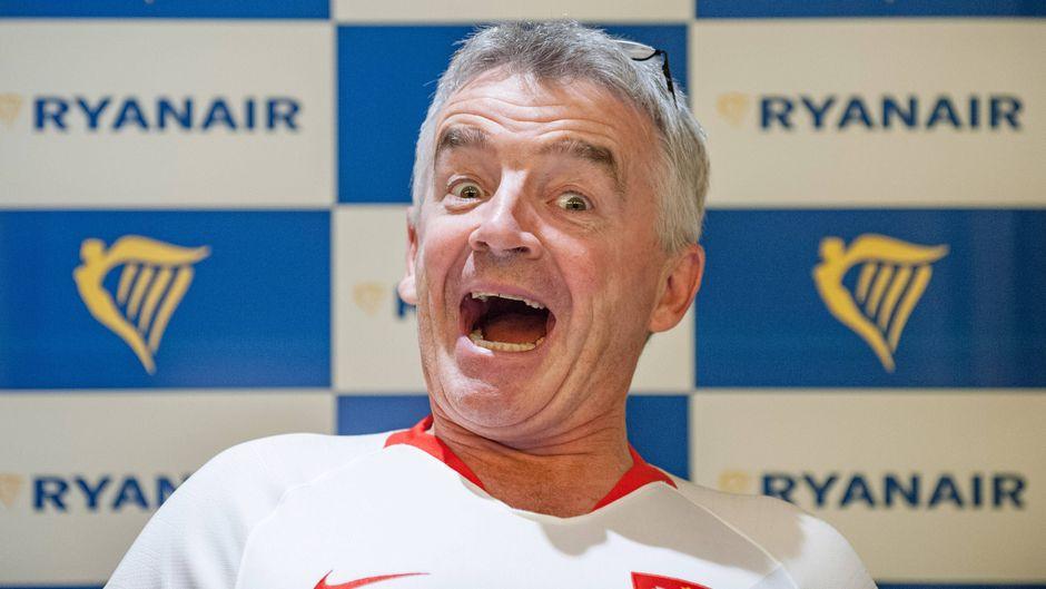 Michael O'Leary bei einer Pressekonferenz in Warschau vergangene Woche.
