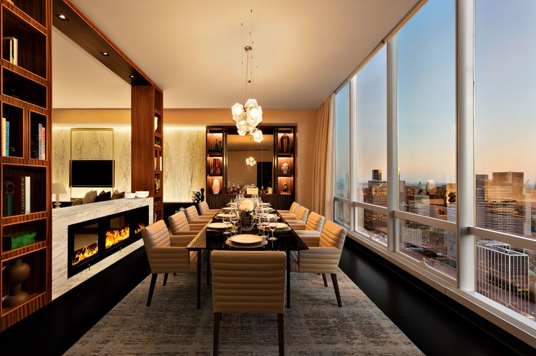 Der Essbereich in der Manhattan Sky Suite.