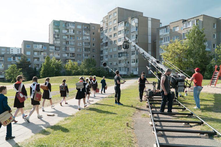 Stadtviertel von Vilnius, das architektonisch Prypjat ähnelt und daher als Drehort für die HBO-Serie ausgewählt wurde.