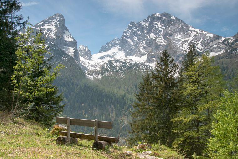 Die beeindruckende Landschaft rund um den Watzmann in den Berchtesgadener Alpen.
