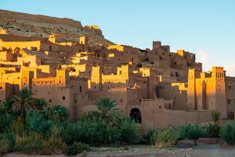 Festungsstadt Aït-Ben-Haddou in Marokko.
