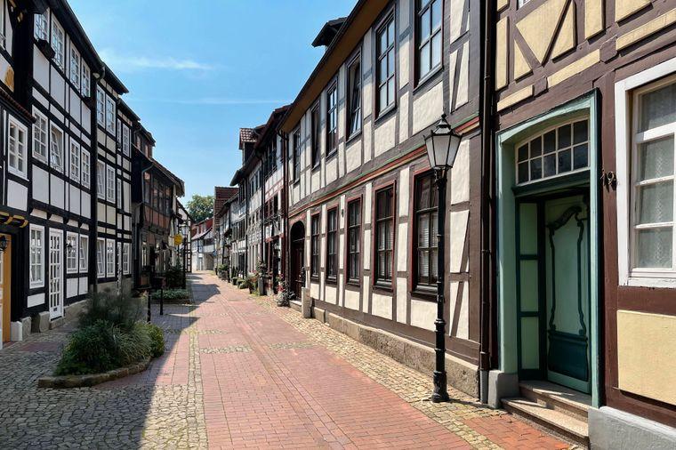 Historische Fachwerkhäuser in Hameln.