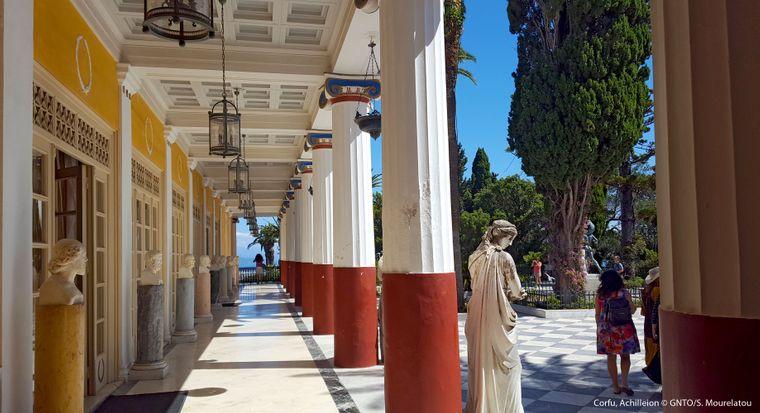 Der Achilleion-Palast, den Kaiserin Sisi nach ihrem griechischen Lieblingsheroen Achill benannte.