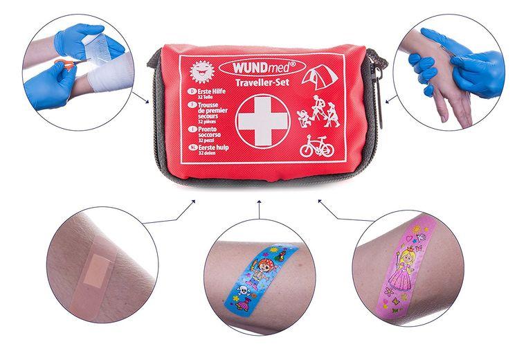 Das kleine Erste Hilfe Set für (Reisen, Outdoor, Arbeit) mit den wichtigsten Erste Hilfe Anweisungen