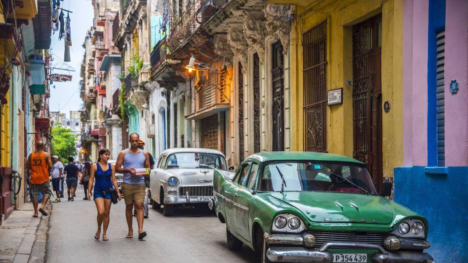 Bunte Häuser in der Altstadt von Havanna