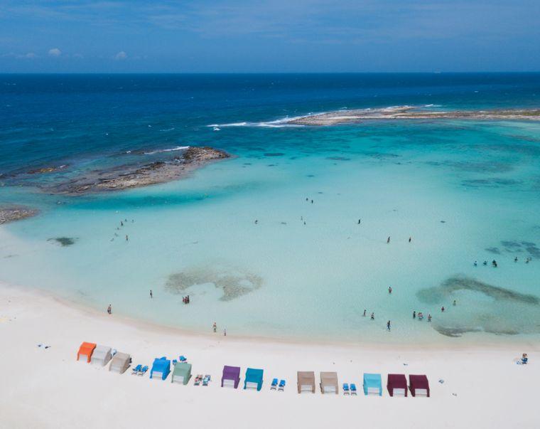 Der Baby Beach im Süden von Aruba eignet sich besonders gut für Familien.