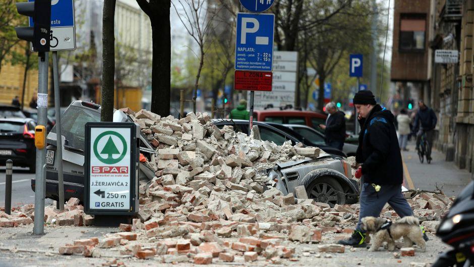 Die Erdbeben erschütterten Kroatiens Hauptstadt Zagreb.