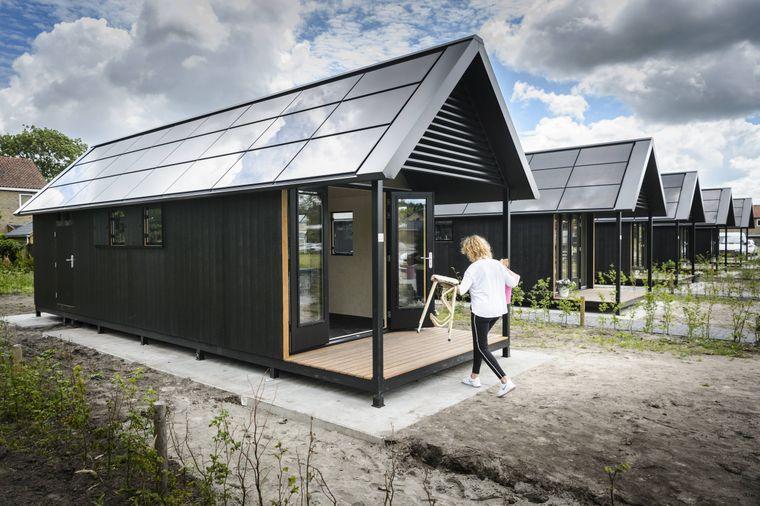 Immer mehr Tiny Houses werden mit Solaranlagen ausgestattet – so wie dieses Exemplar in Holland.