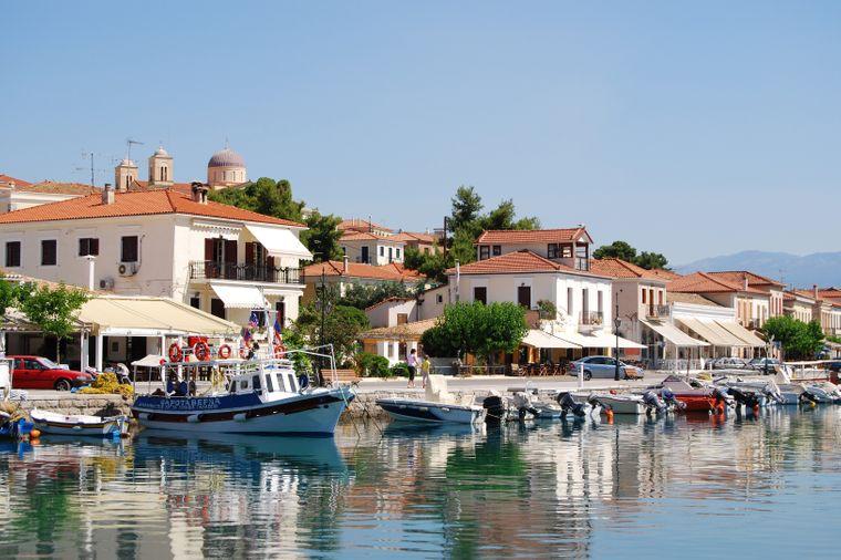 Der Hafen von Galaxidi. Griechenland.