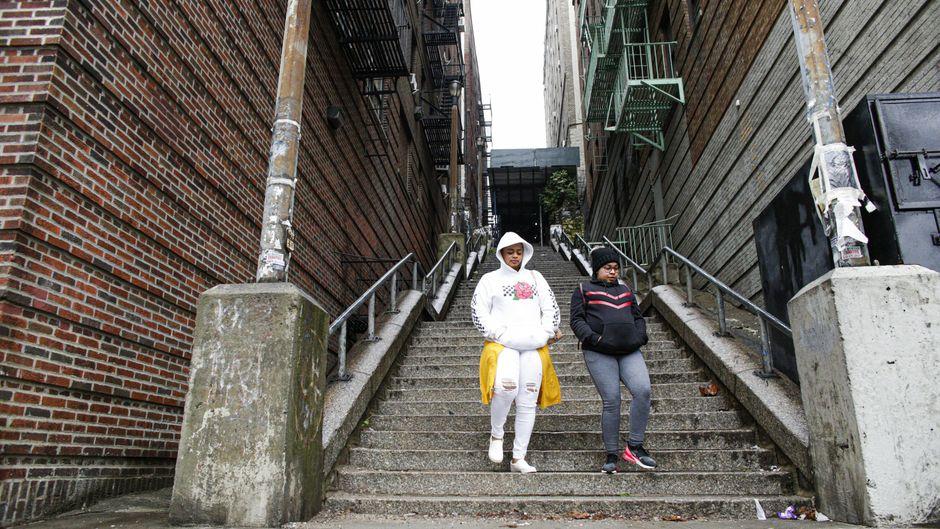 """""""Joker-Treppe"""" in der Bronx."""