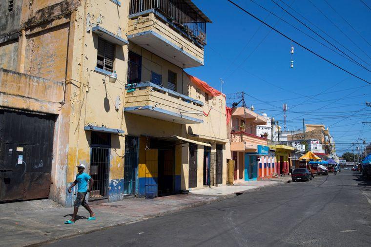 Die Straßen von Santo Domingo in der Dominikanischen Republik sind leer.