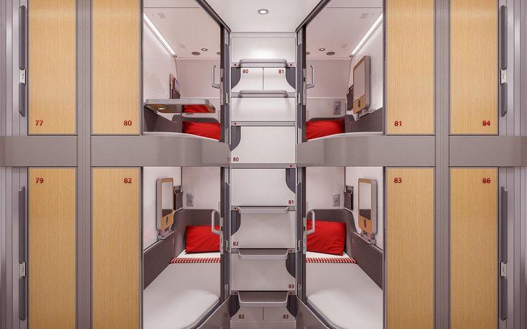 """Ab Ende 2022 sollen die """"Minisuiten"""" im Liegewagen des Nightjets zum Einsatz kommen."""