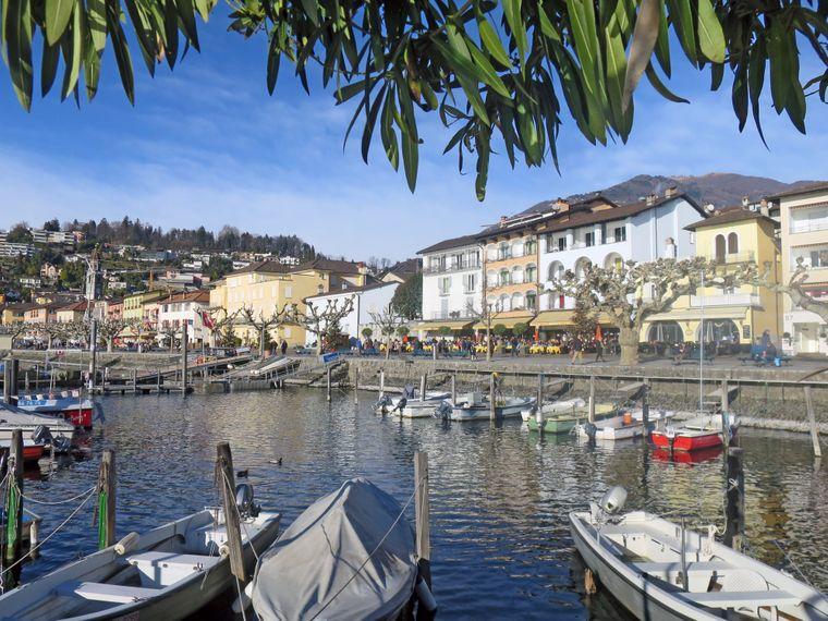 Kleiner Hafen in Ascona.