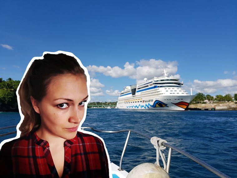 """reisereporterin Isabell schipperte zwei Wochen auf der """"Aida Luna"""" durch die Karibik."""