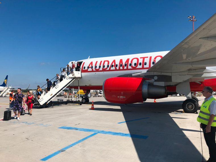 Mit Laudamotion ging es für unseren reisereporter und seinen Kumpel zurück nach Deutschland.