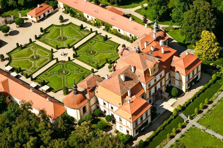 Schloss Jemniště, Schlossgarten, Tschechien