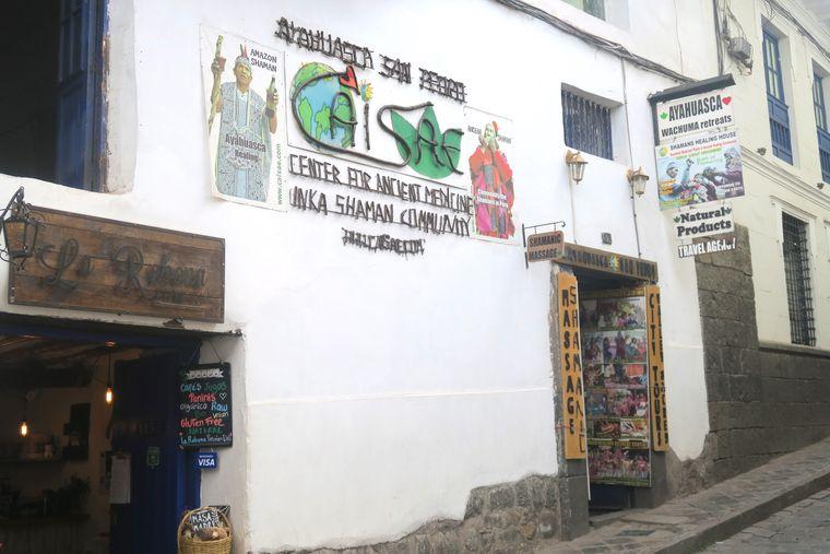 Ein Schamanen-Reisebüro in Cusco.