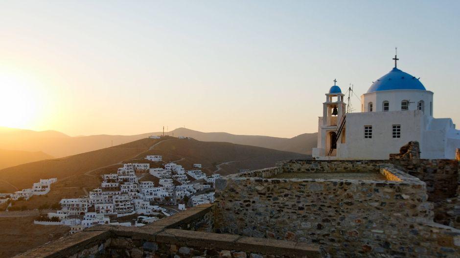 Die Hora der Insel Astypalea in Griechenland.