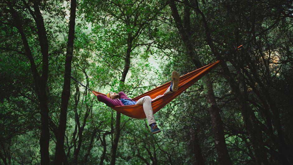 Eine Nacht im Wald schlafen oder einfach nur die Sterne genießen zählt als Mikroabenteuer.
