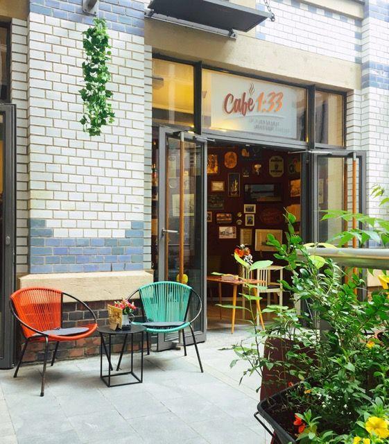 Café 1:33 in Leipzig.