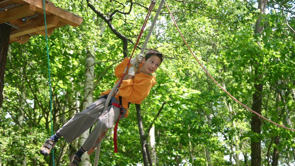 Klettern im Wald – ein actionreiches Hobby!