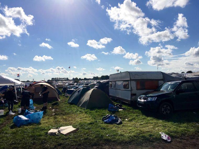 Campingplatz beim Wacken Festival 2016