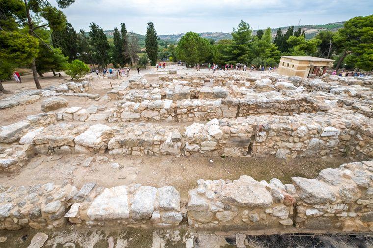 Teile der minoischen Tempelanlage von Knossos auf Kreta.