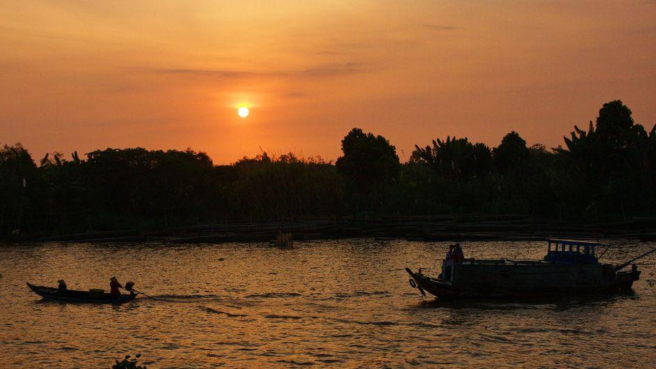 Fließende Abläufe: Der Mekong ist ein wichtiger Transportweg.