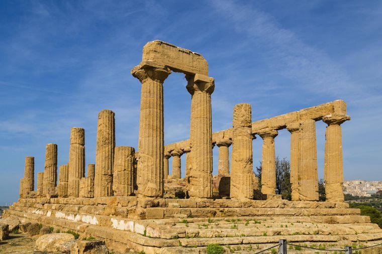 Archäologische Stätten von Agrigent zeigen die Überreste von  Akragas. Eine Reise in die griechische Antike.
