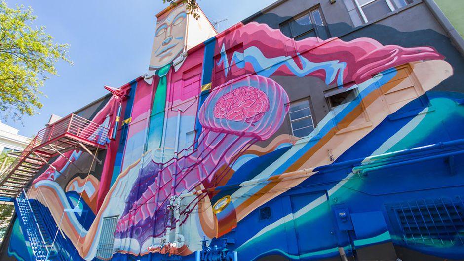 An jeder Ecke findest du in St. Pete ein anderes Kunstwerk.