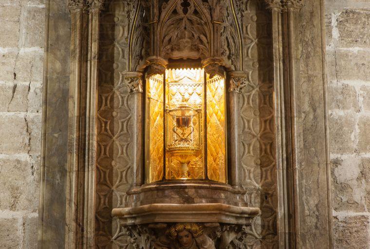 Der Heilige Gral in Valencia könnte archäologischen Untersuchungen zufolge das Gefäß des Letzten Abendmahls Jesu Christi und seiner Jünger gewesen sein.