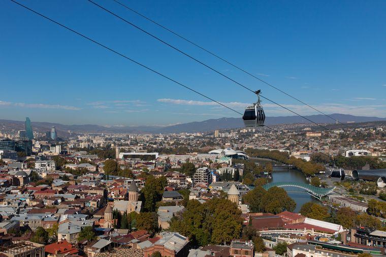 Die georgische Hauptstadt Tiflis.