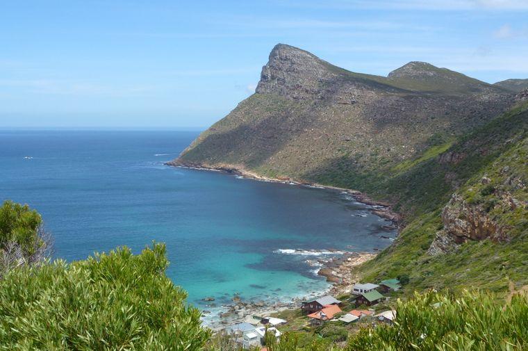 Die Küste auf der Kap-Halbinsel am Kap der Guten Hoffnung