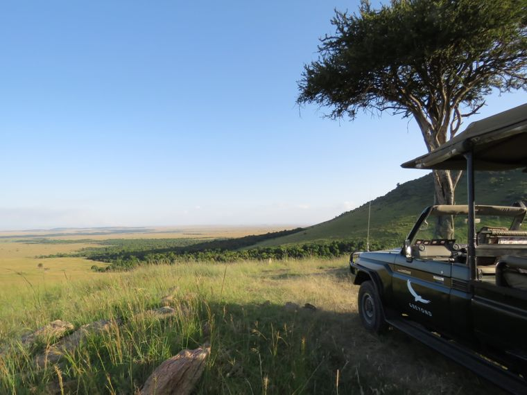 """In der Masai Mara wurden Teile von """"Jenseits von Afrika"""" gedreht. Der Film basiert auf der Geschichte von Karen Blixen."""