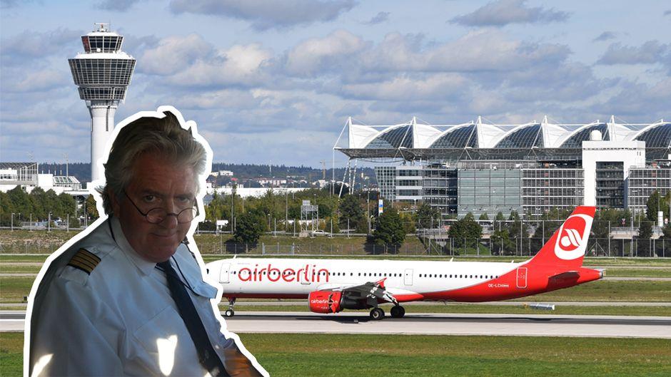 Der Erste ist der Letzte: David McCaleb sitzt im Cockpit des Fluges AB 6120, dem letzten Flug der insolventen Airline.